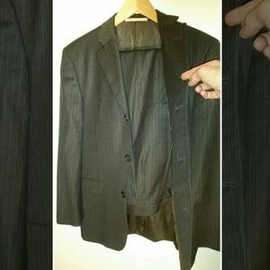 Burberry London pinstriped 3 button wool suit